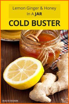Lemon Ginger And Honey In A Jar (Cold Buster!)