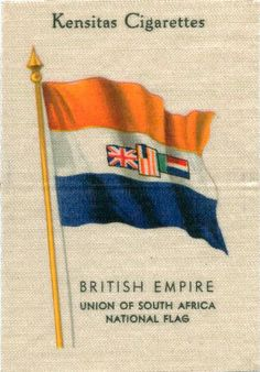 Kensitas cigarette card Union of South Africa National Flag. These are great historical records of former National Flags and/or Coat-of Arms from countries in the (timeline may vary) . Union Of South Africa, South African Flag, British Empire Flag, Africa Symbol, Story Of Jacob, Vintage Flag, Self Determination, National Flag, African History