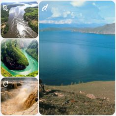 Aqui se pueden observar distintos rios y lagos de este país.