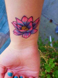 Lotus Tattoo on wrist