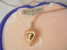 Always something exciting in store many items on sale from 10 to 60% off Rare marathon gold filled engrave heart Locket Necklace in Heart box