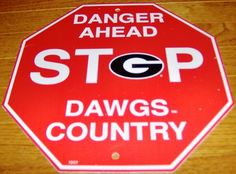 Georgia Bulldogs Stop Sign Room Bar Decor New NCAA | eBay Georgia Girls, Georgia On My Mind, Georgia Bulldogs Football, College Football Teams, Man Cave Bar, University Of Georgia, Wooden Hangers, Man Room, College Fun