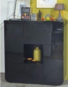Buffet haut noir laqué design DIXON Decoration, Liquor Cabinet, Buffet, Storage, Design, Furniture, Home Decor, Modern, Home