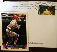 Darren Daulton, C Philadelphia Phillies, TTM