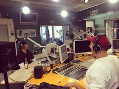 Peter Manns at YouFm, Frankfurt/Main - One of the dopest radiostations in europe Press like for #dublecuplife homies