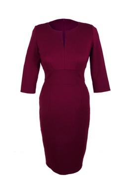 £95.00 Jeetly - VICTORIA - Burgundy petite dress