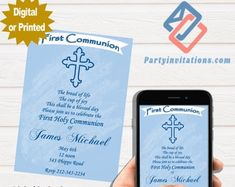 The perfect first communion party invitations for the by partyinvitationscom Teacher Retirement Parties, Retirement Party Invitations, Unique Invitations, Digital Invitations, First Communion Party, First Communion Invitations, First Holy Communion, Perfect Party, Give It To Me