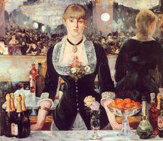 """Edouard Manet - """" Le Bar des Folies-Bergère """" 1881 - Huile sur toile"""