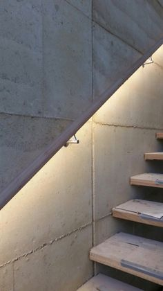 Timber LED handrail illuminated with the Forrest range by Lumorail. #handrail lighting