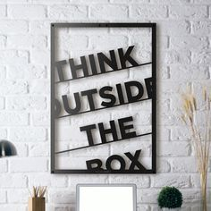 Metal Poster - Think Outside the Box