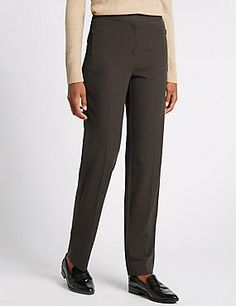 Twin Zip Pocket Straight Leg Trousers #trousers #leggings #skinny #women #woman #fashion #style #marksandspencer #kadın #pantolon #mscollection #autograph #peruna #limitededition #wideleg #slimleg #straightleg