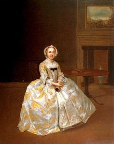 The Athenaeum - Portrait of a Woman in an Interior (Arthur Devis - ) English, c 1742