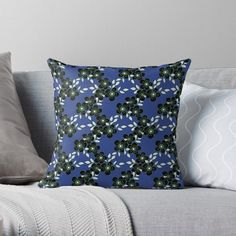 Throw Pillows, Green, Green Throw, Lewis, Blue, Pillows