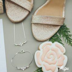 """A #bride #accessories #perfectframe"" Silver Bridal Jewellery, Wedding Jewelry, Bridesmaid Bracelet, Wedding Bracelet, Dainty Bracelets, Silver Bracelets, Swarovski Bracelet, Bride Accessories, French Wedding"