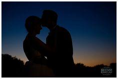 Silhouette at Milestone Krum Wedding by brittanybarclay.com