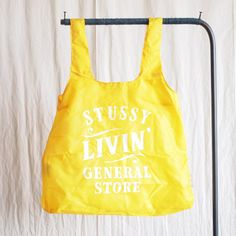 STUSSY Livin' - Jeff Canham Chico Bag #cyber yellow