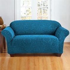 Sure Fit Scroll Sofa Slipcover, Brown Loveseat Covers, Loveseat Slipcovers, Teal Couch, The Big Comfy Couch, Kitchen Sofa, Indoor Outdoor Furniture, Buy Sofa, 1 Piece, Home Furnishings
