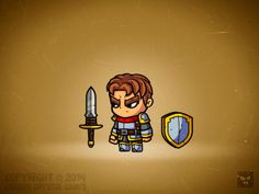 CARTOON CHARACTERS - RPG by Daniel Ferenčak, via Behance Character Creator, 2d Character, Game Character Design, Game Concept, Concept Art, Cartoon Knight, Game Card Design, Medieval, 2d Game Art
