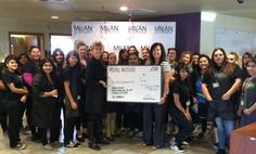 #MilanInstitute held a fundraiser for the March of Dimes in March 2016 at all of our participating locations. We were honored to present the check for a combined total of $7,400 to the charity. Thank you to all who helped us #giveback!