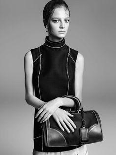 Ine Neefs, Gemma Ward by Steven Meisel for Prada Spring Summer 2015 1
