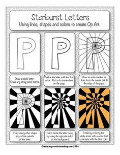 Art Lesson: Op Art Using Positive & Negative Shapes Op Art using Positive and Negative Shapes. Explore the possibilities with this Op Art kit. Art Sub Plans, Art Lesson Plans, Art Substitute Plans, Art Sub Lessons, Drawing Lessons, Arte Elemental, Illusion Kunst, Optical Illusion Art, Optical Illusions