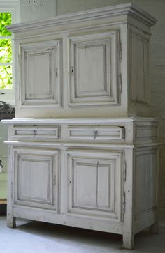French Loft are specialist dealers in reclaimed furniture, French antiques & interiors. Rustic Sideboard, Antique Wardrobe, Reclaimed Furniture, Antique Interior, French Furniture, Showcase Design, French Antiques, 18th Century, Cupboard