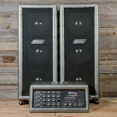 Earth Sound Research PA-2000 Silver Tuck & Roll w/3x12 Matching Cabinet Pair 1970s