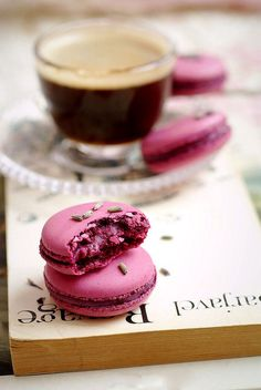 Coffee & Lavender Macarons