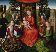 Hans Memling - Virgin and Child with Saints Catherine of Alexandria and Barbara