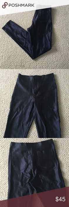 Black American Apparel Disco Pants sz M Classic black American Apparel disco pants. High waisted to perfection with pockets in back to keep your butt looking right. Size medium will fit size 4-6. American Apparel Pants Skinny