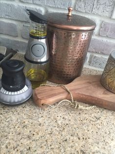 Must have kitchen gadgets !  Up on blog ! Thelilliebag.com !!! Gift ideas . Rustic kitchen .  Olive oil dispensers.