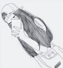 Resultado de imagem para desenhos de meninas tumblr facil para colorir