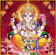 Ads Art Poster Wall decorative and Personalise Greeting cards Shiva Art, Ganesha Art, Lord Ganesha, Hindu Art, Lord Krishna, Jai Ganesh, Shree Ganesh, Jai Hanuman, Ganesha Pictures