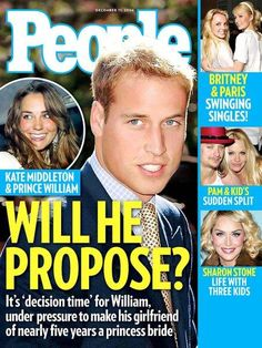 "DECEMBER 2006 Having spent nearly five years together, will William make Middleton his future bride and queen? ""She is princess material and queen material, I have no doubt about that,"" says veteran royals writer Robert Lacey. Princess Diana Death, Personalized Books For Kids, Kate Middleton Prince William, Royal Weddings, People Magazine, Three Kids, Prince Charming, Britney Spears, Magazine Covers"