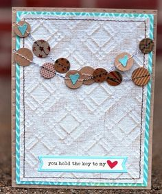 love this card...teal and brown :)