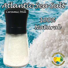 Atlantic Sea Salt Grinder 100 Grams (3.5oz)