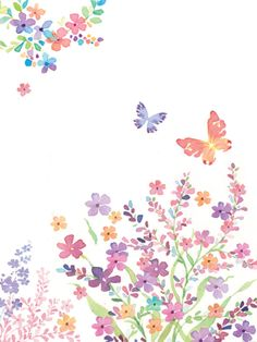 Liz Yee - Small Flower With Butterfly