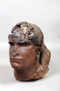 STEPAN DIMITRIEVICH ERZIA (1876-1959)  Tête d'homme en bois taille directe.  Hauteur 42cm. - Kapandji Morhange - 11/12/2015 Rodin, Bronze, Sculptures, Statue, Artist, Russia, Human Height, Sculpture, Sculpting
