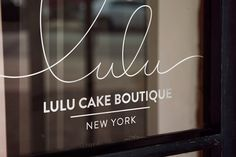 Script logotype for Lulu Cake Boutique designed by Peck and Co.