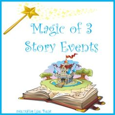 Three events is the magic number in short stories. This five page writing activity gives students the opportunity to study and analyze the events in a selected picture book, then plan and write out their own three story events. Each event is written on a different sheet of paper, so that students stay focused.