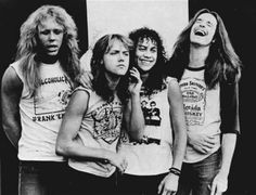 Metallica Band Picture with Cliff Laughing
