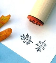 Red Oak Open Rubber Stamp by norajane on Etsy