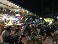 Seating at the front of Malin Plaza Food Centre