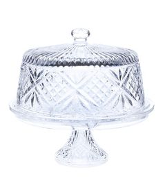 Look what I found on #zulily! Dublin Four-in-One Covered Pedestal Plate #zulilyfinds