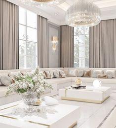 Decor Home Living Room, Elegant Living Room, Living Room Designs, Fancy Living Rooms, Beige Living Rooms, Bedroom Decor, Wall Decor, Wall Art, Home Room Design