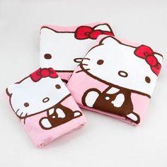 Hello Kitty Bath Towel Set: Gingham Apples:Dream Kitty
