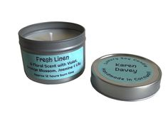 Fresh Linen Soy Candle Tin