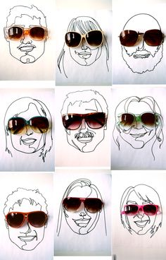 """As little gifts for your guests, or even just your bridal party, you could give them fun sunglasses! Another fun idea is to have an artist come to create line drawings of your guests."""