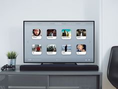 TV UI Concept by Ruben Rodrigues