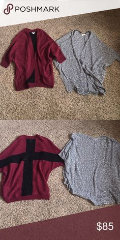 Cardigan sweaters So cute and barely worn! Sizes small and xs but fit the same. From Macy's and Nordstrom bp Tops Sweatshirts & Hoodies